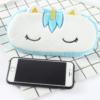 Unicorn Pencil Case phone holder Blue