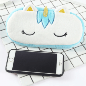 Unicorn Pencil Case phone holder Blue