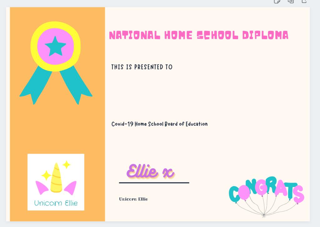 unicorn ellie home school